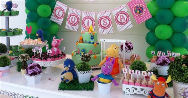 backyardigans mesa de aniversario decorada