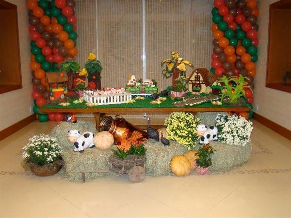 decoração de festa tema fazendinha