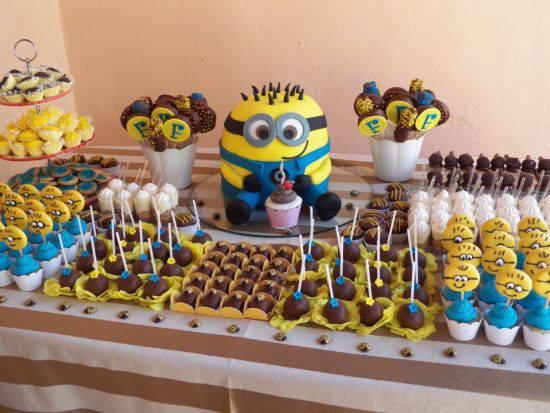 mesa de doces festa do meu malvado favorito