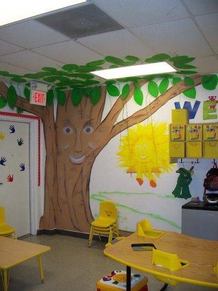Classroom Door Tree Decoration ~ Decoração para sala de aula infantil