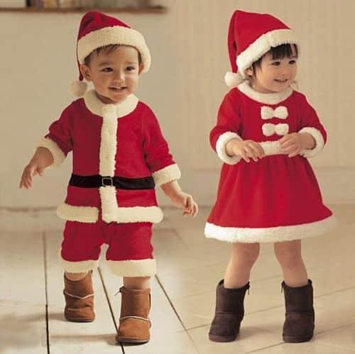 Investir em uma roupa infantil de papai Noel garantirá a alegria de seus pequenos (Foto: Divulgação)