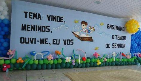 A decoração infantil para igreja pode ser bem simples, pois o importante é o que será passado para os pequenos (Foto: Divulgação)