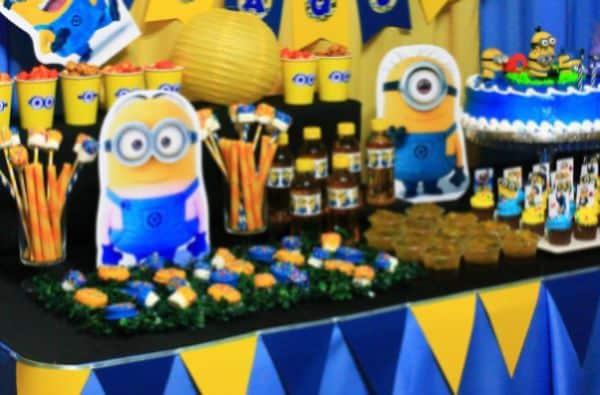 A decoração de festa infantil dos Minions é divertida e pode ser usada por meninos e meninas (Foto: Divulgação)