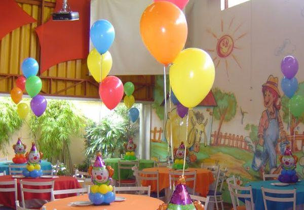 Enfeites De Mesa Para Festa Infantil Com Balões