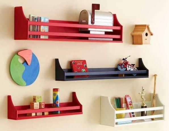 como decorar quarto infantil com prateleiras. Black Bedroom Furniture Sets. Home Design Ideas