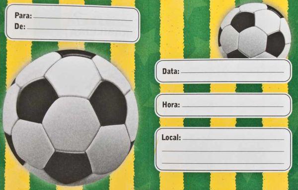 Os modelos de convites de aniversário infantil Copa do Mundo estão bem democráticos e podem ser utilizados por meninos e também por meninas (Foto: Divulgação)