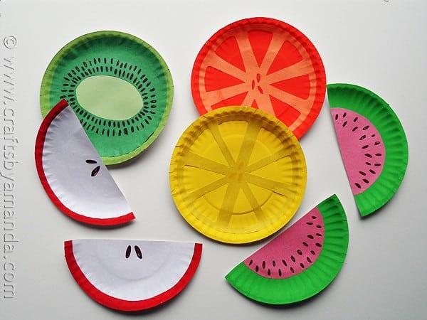 frutas de papel