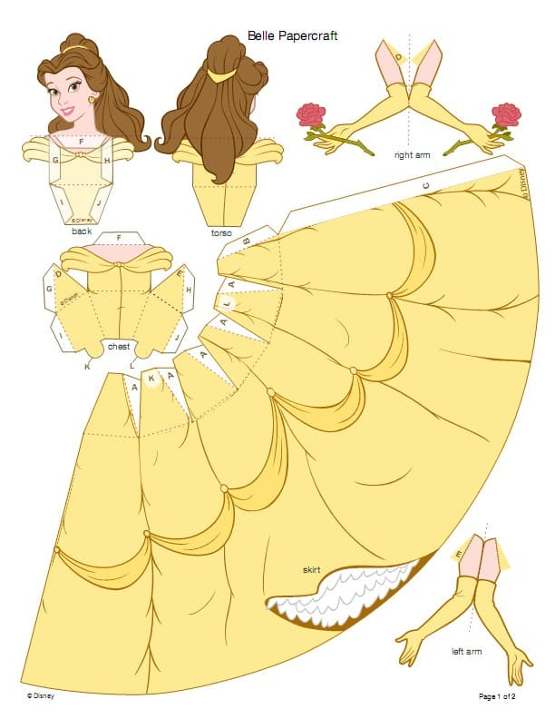 molde princesa da disney