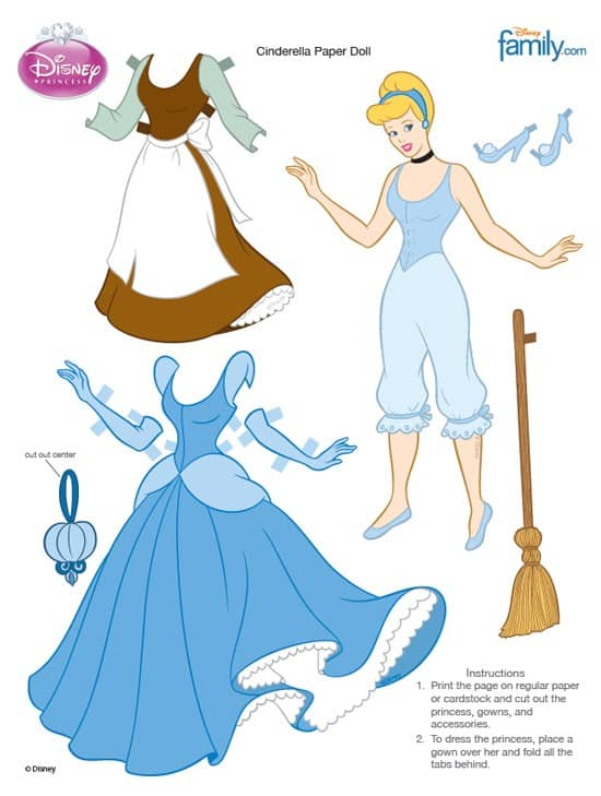 molde princesas disney