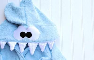 Roupão Infantil Tubarão Passo a Passo