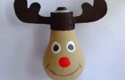 Com este artesanato de Natal infantil seus filhos ficarão ainda mais animados com os festejos de fim de ano (Foto: guidecentr.al)