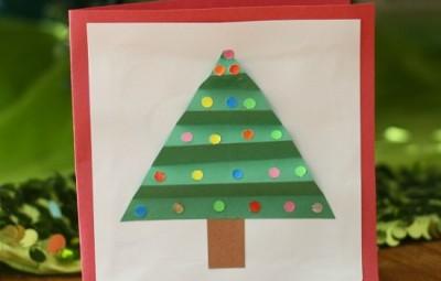 É muito fácil fazer este cartão de Natal infantil (Foto: buggyandbuddy.com)