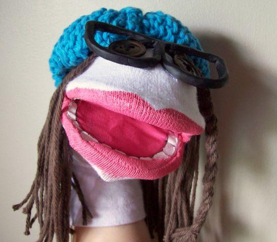 Este fantoche de meia é divertido e muito fácil de ser conseguido (Foto: braveturtlecreations.blogspot.com.br)