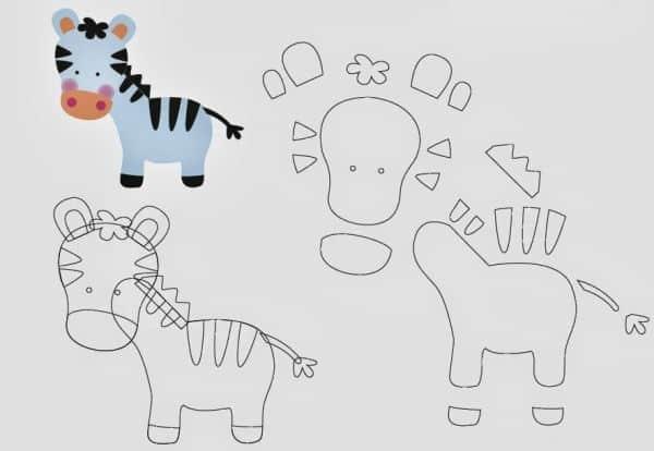 Espa o infantil moldes de bichinhos para festa safari for Moldes para pavimentos de hormigon