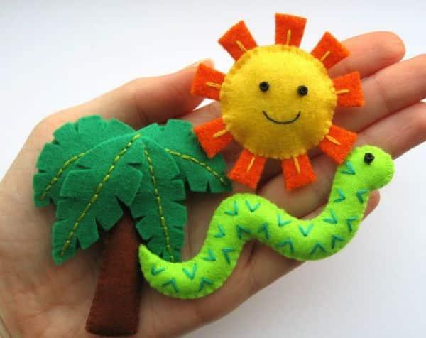 Estes moldes de feltro para festa safári podem ser usados em qualquer ocasião (Foto: bugsandfishes.blogspot.com.au)