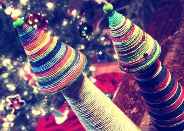 Com esta árvore de Natal com barbante, elogios não faltarão para o seu capricho (Foto: myhempcraft.com)