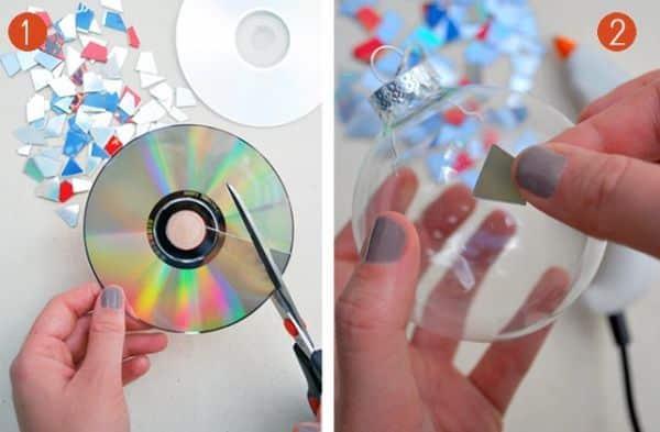 Adesivo Para Tratamento De Herpes Labial ~ Espaço Infantil u2013 Artesanato de Natal com Reciclagem de CD Velho