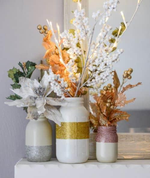 Enfeite de Natal com flores é sofisticado e lindo (Foto: howsweeteats.com)