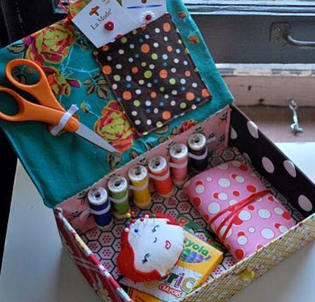 É muito fácil fazer esta caixinha de costura (Foto: academiacraft.com)