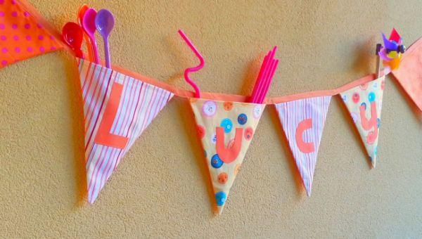 Suficiente Espaço Infantil – Como Fazer Bandeirinhas para Festa Infantil FK33