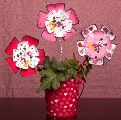 Estas flores de Minnie e Mickey Mouse são simpáticas e agradam até adultos (Foto: family.disney.com)