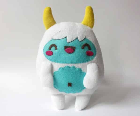 Monstrinho de pelúcia é lindo e faz sucesso também com adultos (Foto: crafts.tutsplus.com)