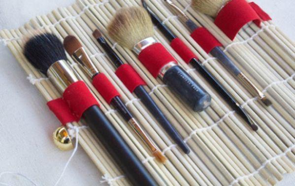 Organize os seus produtos com este porta pincel de maquiagem fácil de fazer (Foto: vilamulher.com.br)