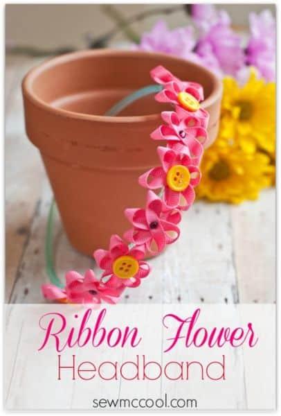 É possível decorar tiara infantil com flores de maneira bem diferente (Foto: sewmccool.com)