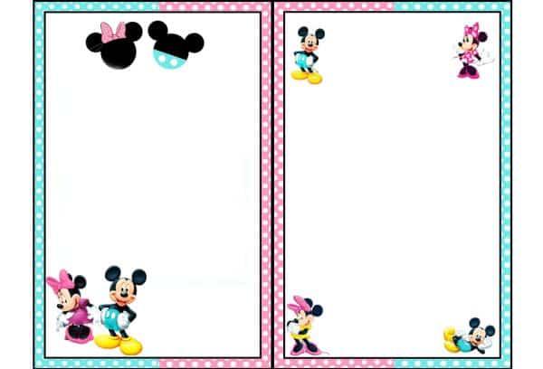 Enfeites De Aniversário Minnie E Mickey Para Imprimir
