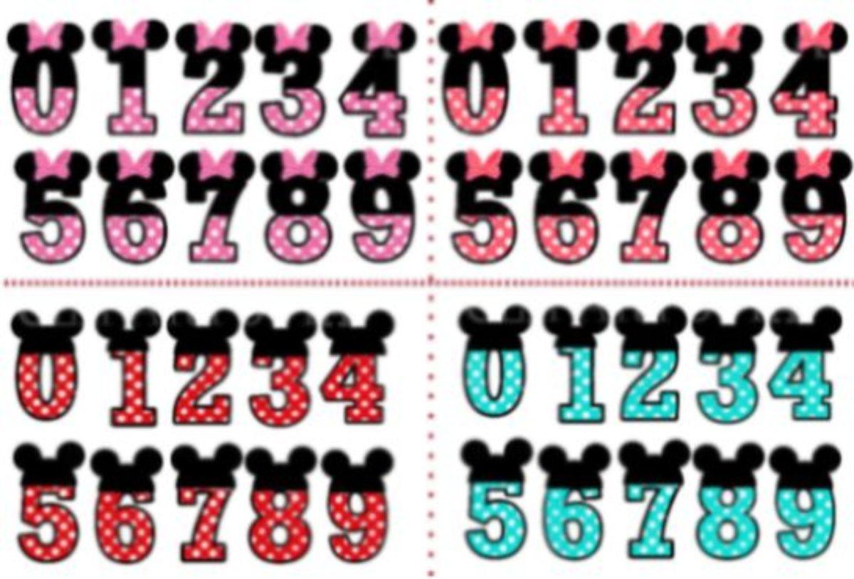Enfeites De Aniversario Minnie E Mickey Para Imprimir