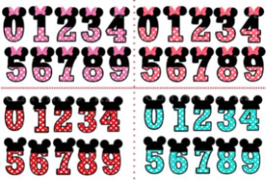 Enfeites de aniversário Minnie e Mickey para imprimir incrementam o décor de sua festa com este tema (Foto: 1et2et3doudous.canalblog.com)