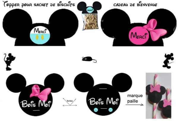 Espaço Infantil Enfeites de Aniversário Minnie e Mickey para