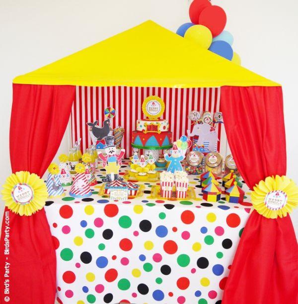 A decoração de festa infantil tema circo é democrática e versátil (Foto: blog.birdsparty.com)
