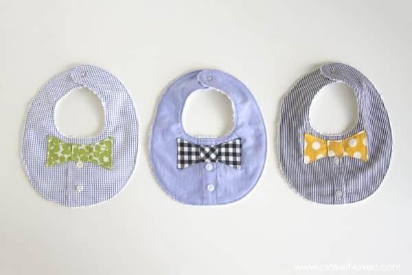 Reaproveitar uma camisa social velha desta forma divertida vai também deixar o seu bebê mais animado (Foto: makeit-loveit.com)