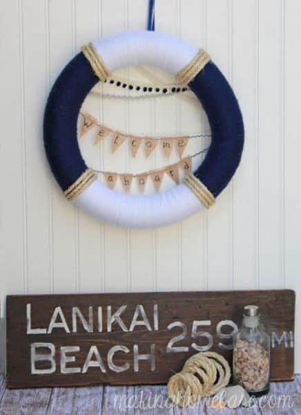 Decoração náutica barata é interessante e sempre faz o maior sucesso (Foto: makinghomebase.com)