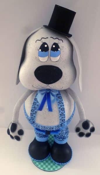 Cachorrinho porta-bombom é simpático e encanta a todos (Foto: ateliekreateva.com.br)