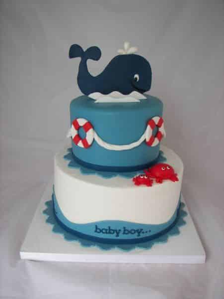 Não faltam modelos de bolos decorados para festa infantil, escolha o seu preferido (Foto: coolbabyshowerideas.com)