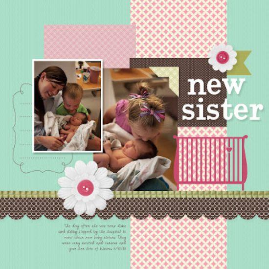 Álbum scrapbook do bebê pode ser feito de vários estilos e modelos (Foto: scrapbooking.craftgossip.com)