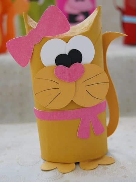 Animais feitos com rolo de papel higi nico para crian as for Trabajos artesanales para hacer en casa