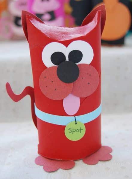 Espa o infantil animais feitos com rolo de papel higi nico para crian as - Trabajo desde casa manualidades ...
