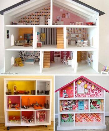 Esta casinha de boneca e madeira pode ter a cor e o estilo que você quiser (Foto: younghouselove.com)