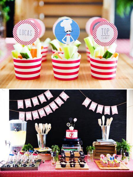 Decoração de festa infantil tema chefe de cozinha pode ser escolhida por ambos os sexos (Foto: blog.hwtm.com)