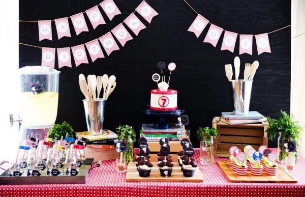 Resultado de imagem para decoração de festa aniversário  com tema cozinha