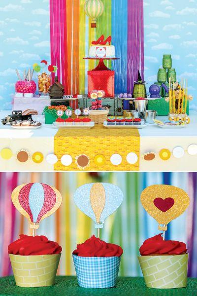 A decoração de festa infantil tema Mágico de Oz é interessante e boa opção (Foto: blog.hwtm.com)