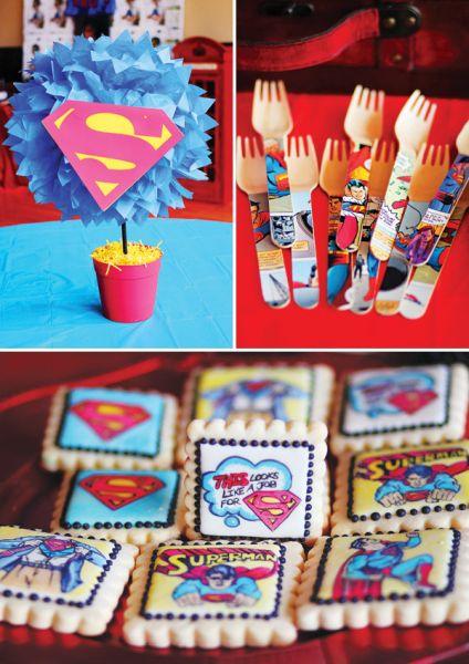 decoracao alternativa para festa infantil : decoracao alternativa para festa infantil:Espaço Infantil Decoração de Festa Infantil Tema Super-Homem