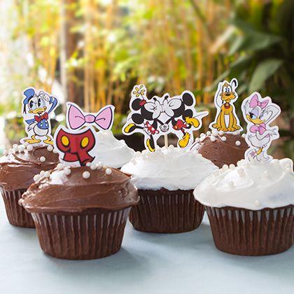 Este enfeite para cupcake da turma do Mickey deixa qualquer confraternização muito mais bonita (Foto: family.disney.com)