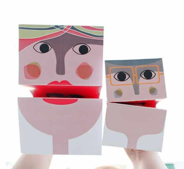Bonecos de mão de papel são lindos e incentivam a imaginação das crianças (Foto: crafts.tutsplus.com)
