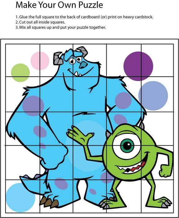 Moldes para Festa dos Monstros SA para Imprimir     15