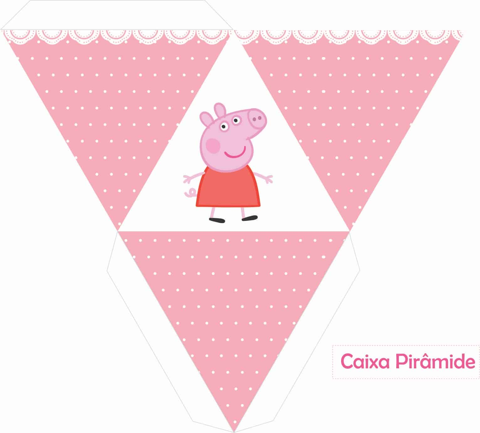 caixa piramide peppa