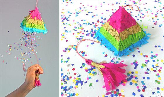 Esta lembrancinha de aniversário divertida pode ter a combinação de cores que você desejar (Foto: happythought.co.uk)